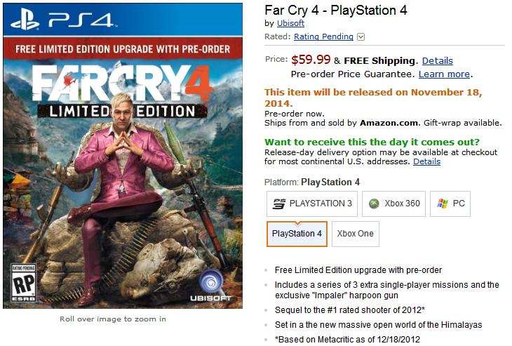 Far Cry 4 PS4, Xbox One And PC Release Date Expected Soon ...