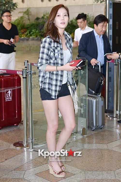 Im Soo Hyang and Jo Dong Hyuk at Gimpo Airport - Jul 4