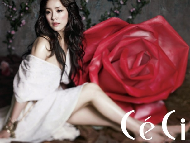 Han Ji Min Dazzling With Red Roses For Ceci Magazine Photos