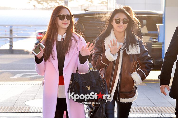 Sistar at Incheon International Airport Leaving for 2014 MAMA in Hong Kong