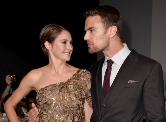 Together shailene theo and james woodley Divergent Interview: