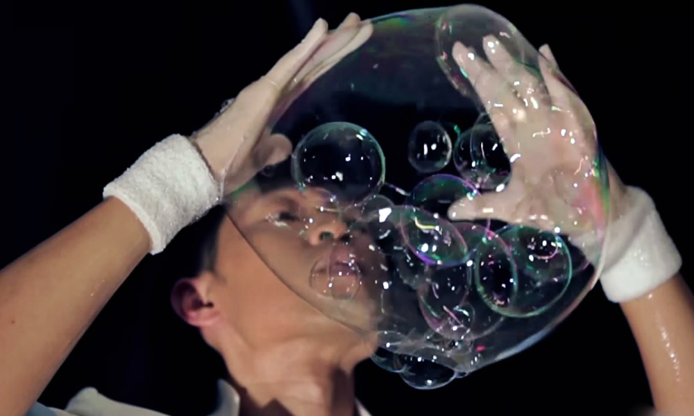 Blowing bubbles gif