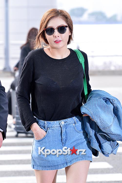 4Minute's HyunA at Incheon Airport to Hong Kong