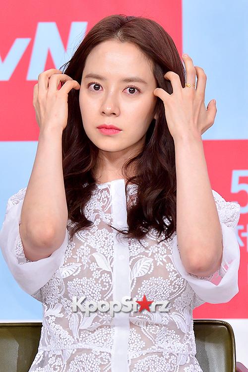 Song Ji Hyo at a Press Conference of tvN Drama Ex