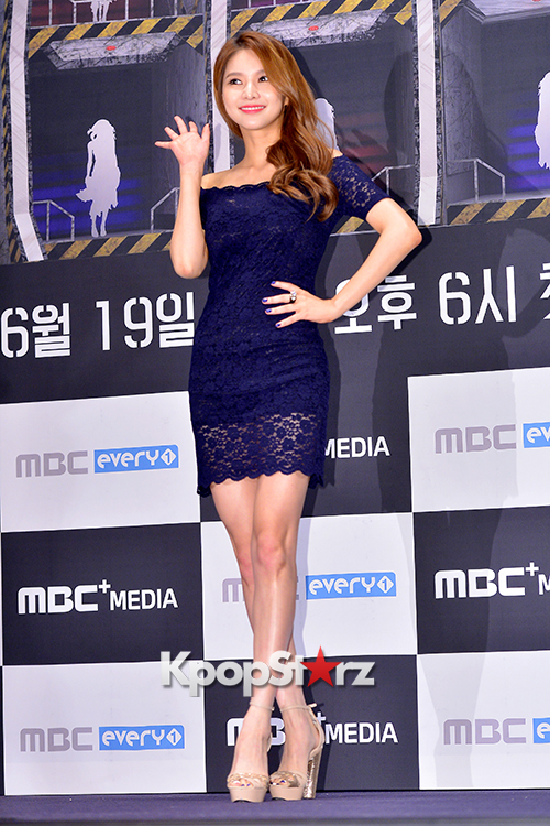 Fiestar's Jei at a Press Conference of MBC Every1 'Her Secret Weapon'