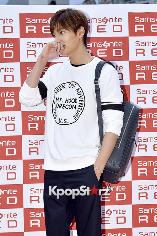 Lee Min Ho at Samsonite Red Fansign Event