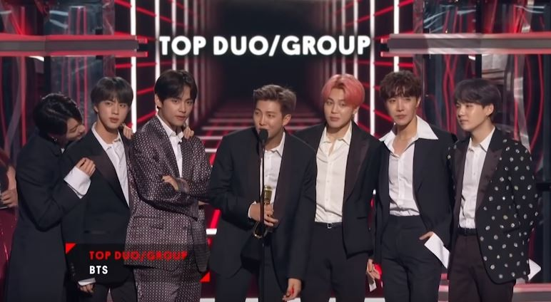 """BTS was named """"Top Duo/Group"""" during the 2019 Billboard Music Awards."""