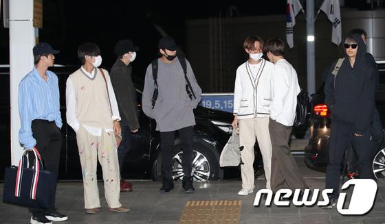 BTS leave Incheon Airport to Saudi Arabia