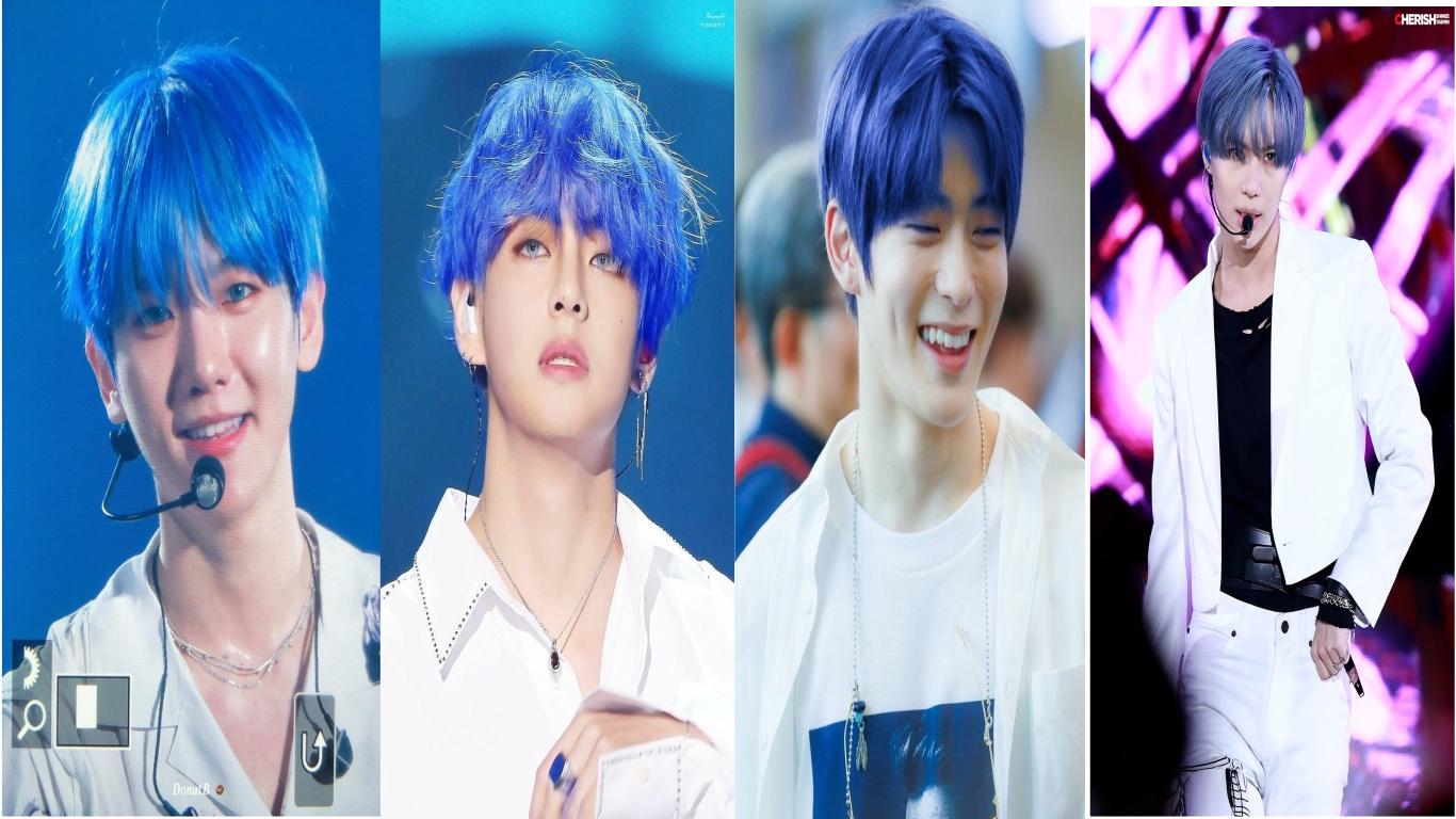 Top Male Idols That Rocked Blue Hair Color Kpopstarz