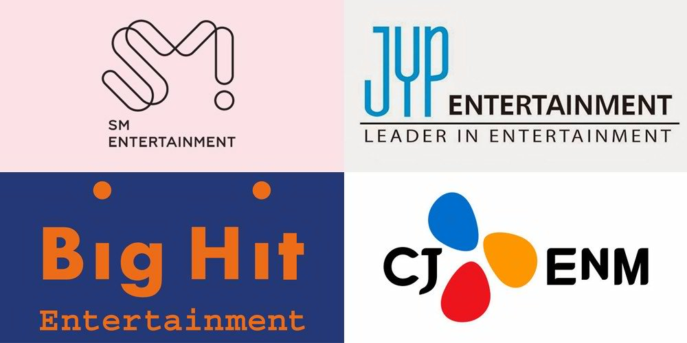 the new top idol entertainment companies in korea as of january 2020