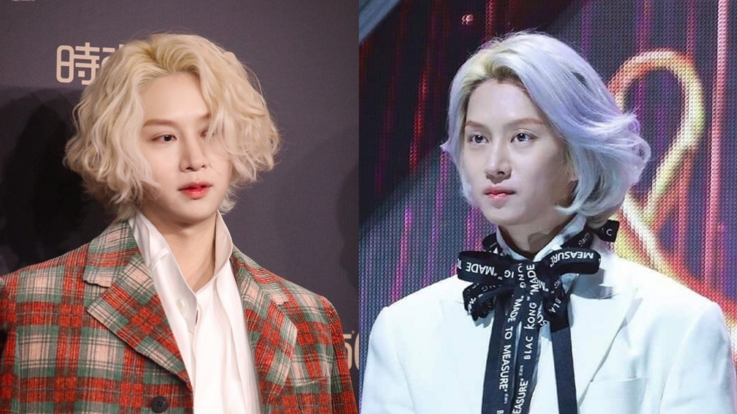 Which Hairsyle Does Heechul Rock The Most With His Blonde Hair: Straight or Curly? | KpopStarz