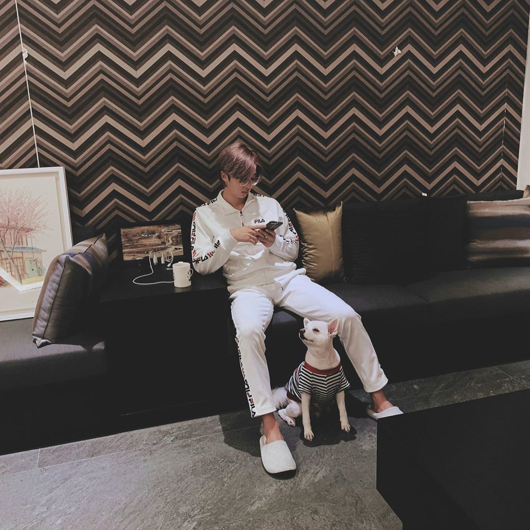 BTS RM Bonds With His Dog Rapmon | KpopStarz