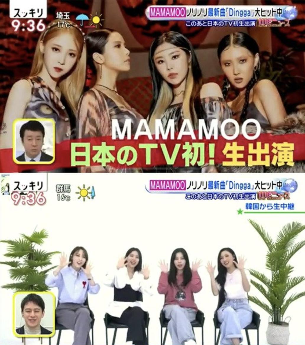 Mamamoo appeared on Japanese terrestrial TV 'Skkiri'... Japanese version of 'Dingga' released