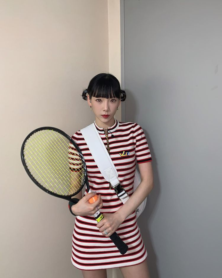 Taeyeon, 'DoReMi Market' certification shot, transformed into a fresh and cheerful tennis girl