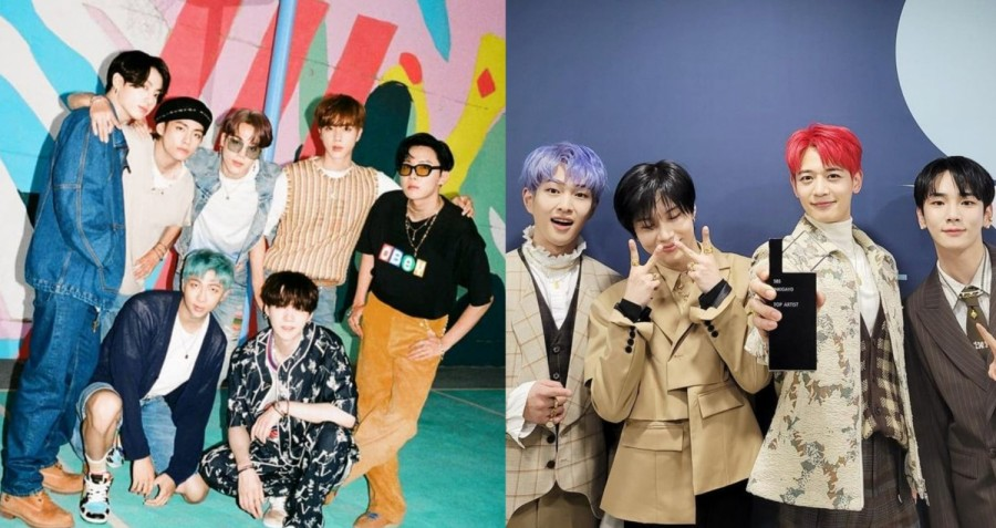 BTS and SHINee
