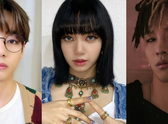 BTS V, BLACKPINK Lisa and BIGBANG G-Dragon