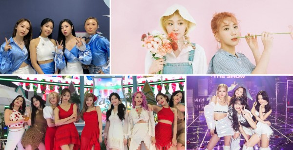 Most streamed songs by girl groups in MelOn history / MAMAMOO, Bolbbalgan4, TWICE, BLACKPINK
