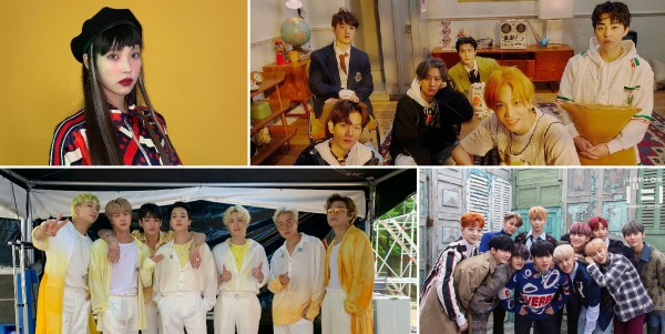 IU, EXO, BTS, Wanna One