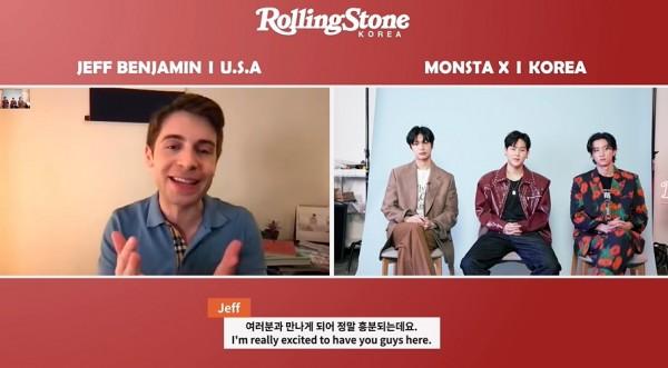 Jeff Benjamin Interviews MONSTA X members Hyungwon, Jooheon, and I.M