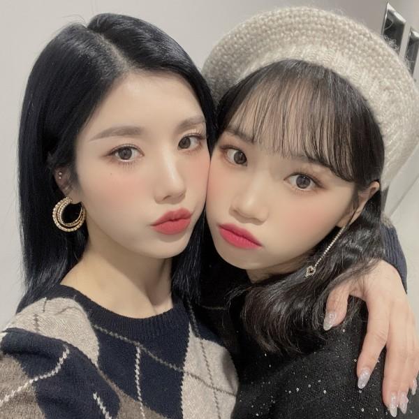 IZ*ONE Eunbi and Chaewon