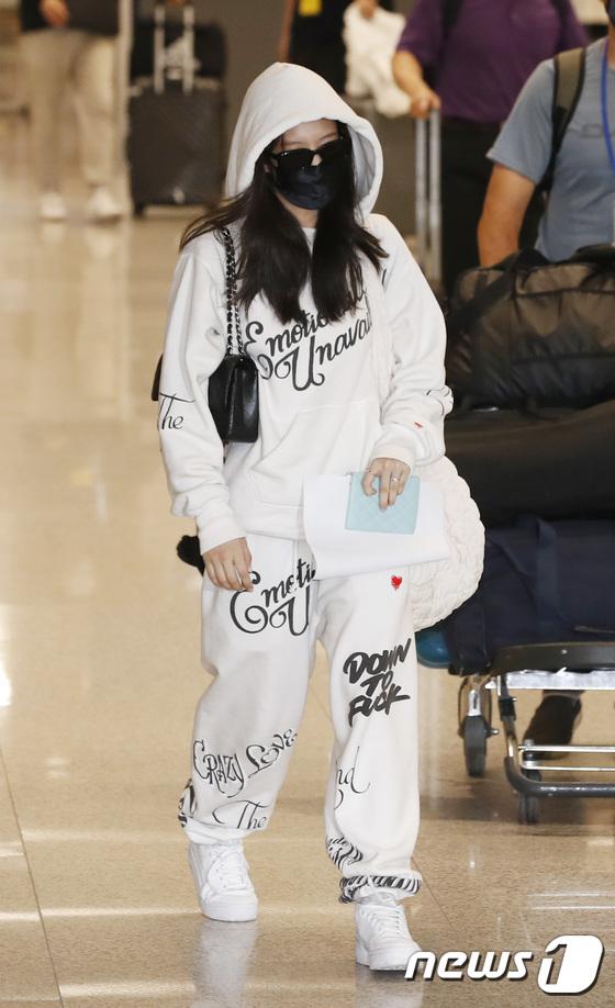 BLACKPINK Jennie's arrival fashion is training