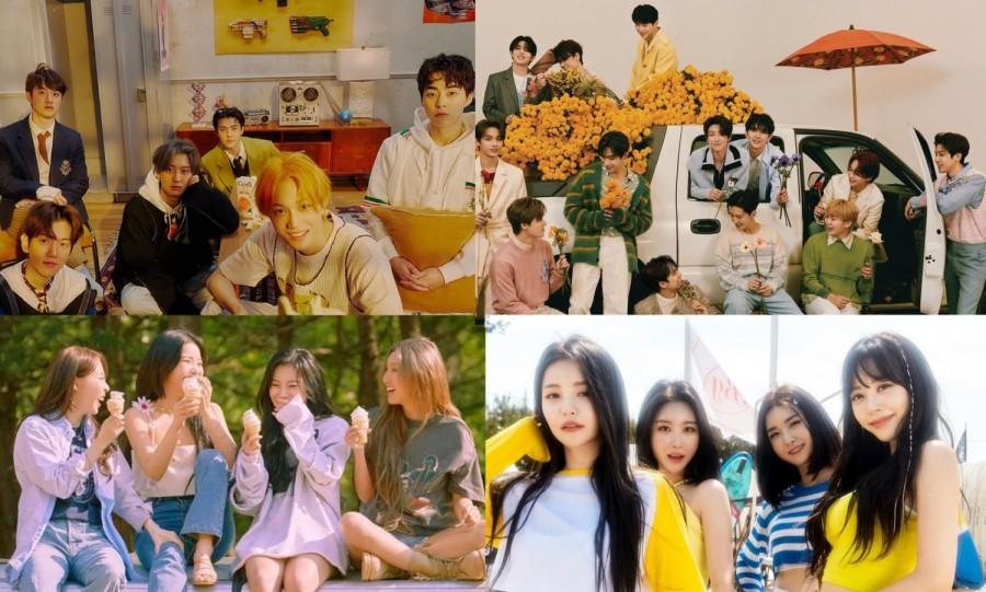 EXO, SEVENTEEN, MAMAMOO, Brave Girls