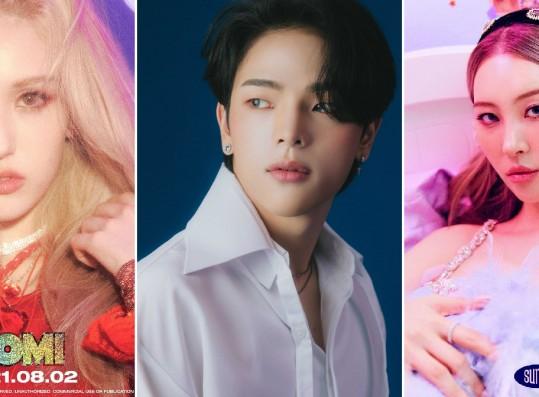 Jeon Somi, Kim Woojin, Sunmi