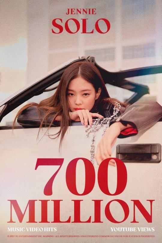 Blackpink Jennie's 'SOLO' music video surpasses 700 million views