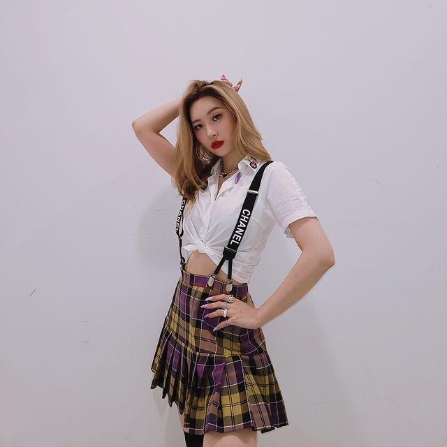 Sunmi, 'M Countdown' appearance verification shot.. Summer Queen's refreshing taste