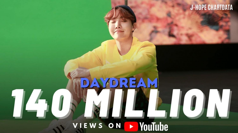 BTS J-Hope 'Daydream' music video achieves 140 million views.. Shining record