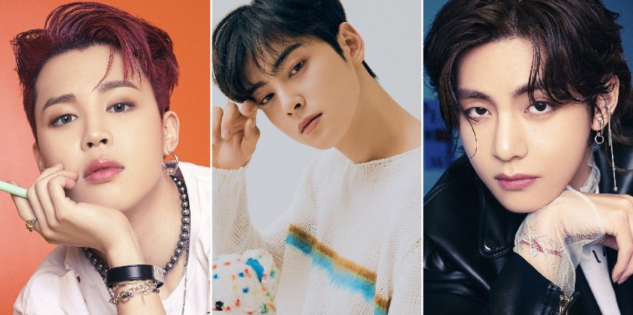 BTS Jimin, ASTRO Cha Eun Woo, BTS V