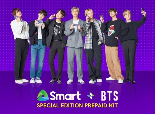 SMART + BTS Special Edition Prepaid Kit