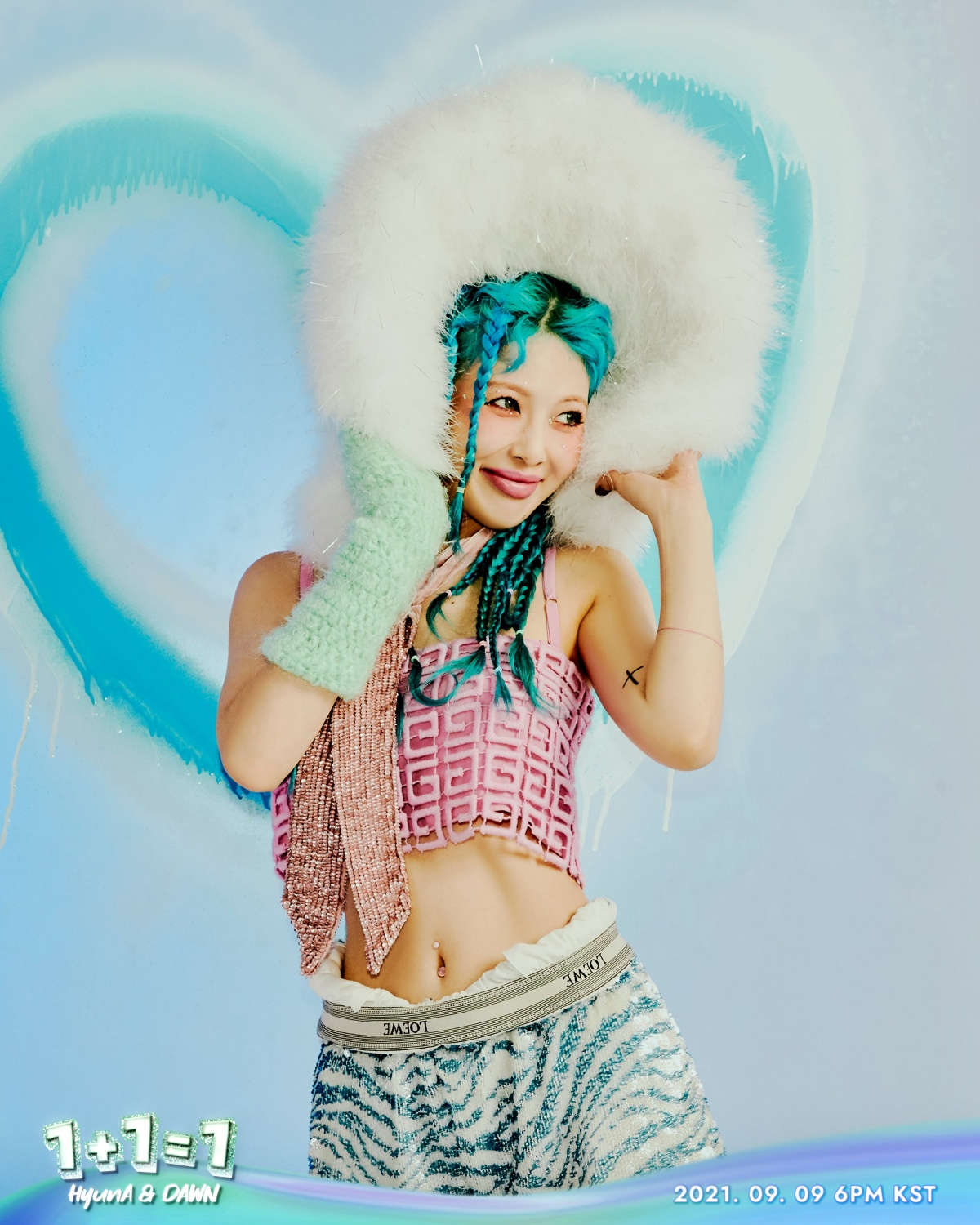 """HyunA, EP '1+1=1' teaser image... """"Colorful styling"""""""