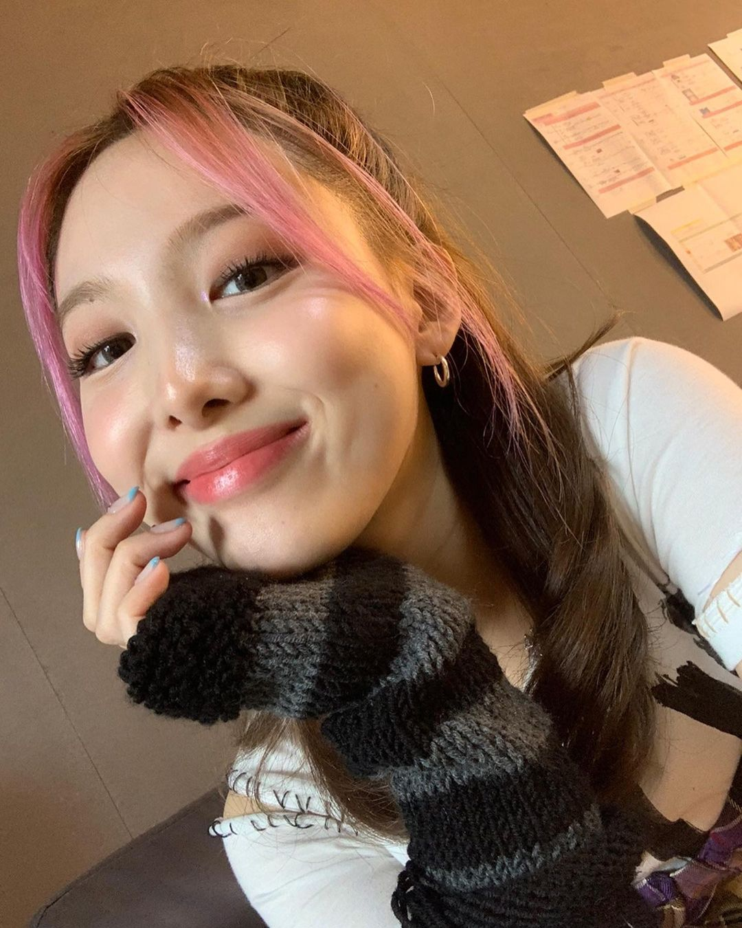 TWICE Nayeon, pink hair is pretty too