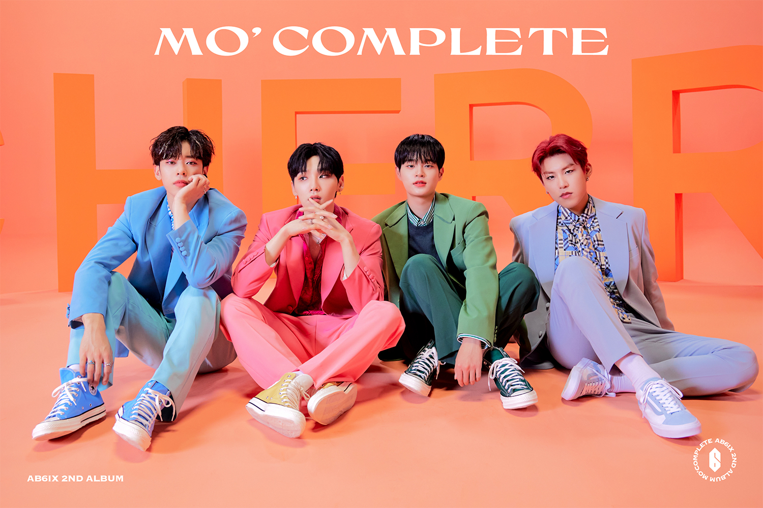 AB6IX, 'MO' COMPLETE' first concept photo released… 4 person 4 color suit