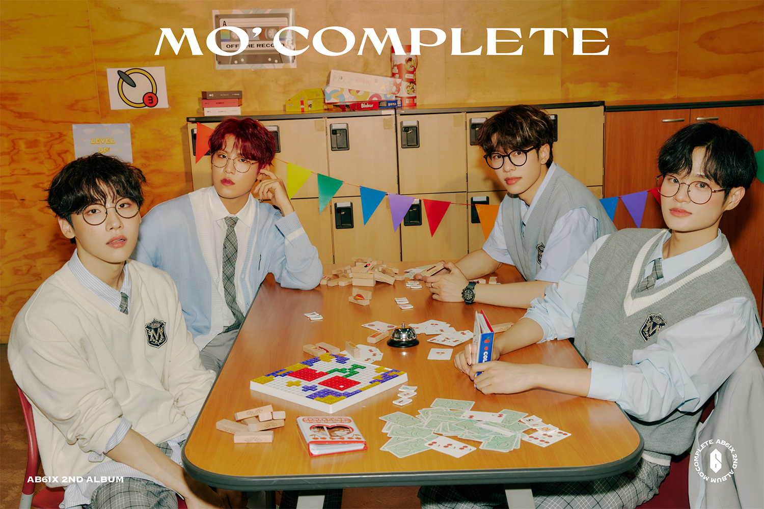 'MO' COMPLETE' Concept Photo: AB6IX Exudes Youthful Aura in Their School Uniform