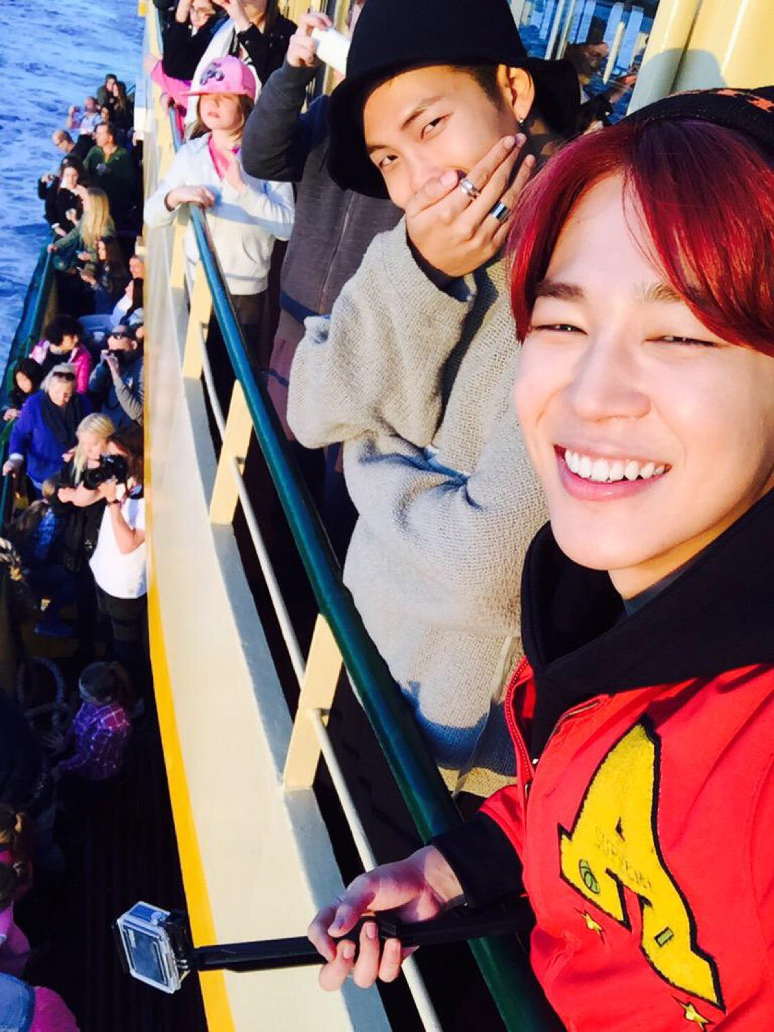 """BTS JIMIN, RM and MiniMony's sweet two-shot♥ """"It's your birthday every day that hyung exists"""""""