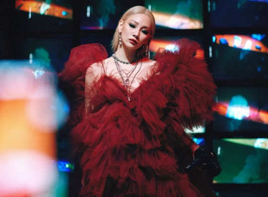 CL reveals concept photo for 'Lover Like Me'... intense blonde + red dress