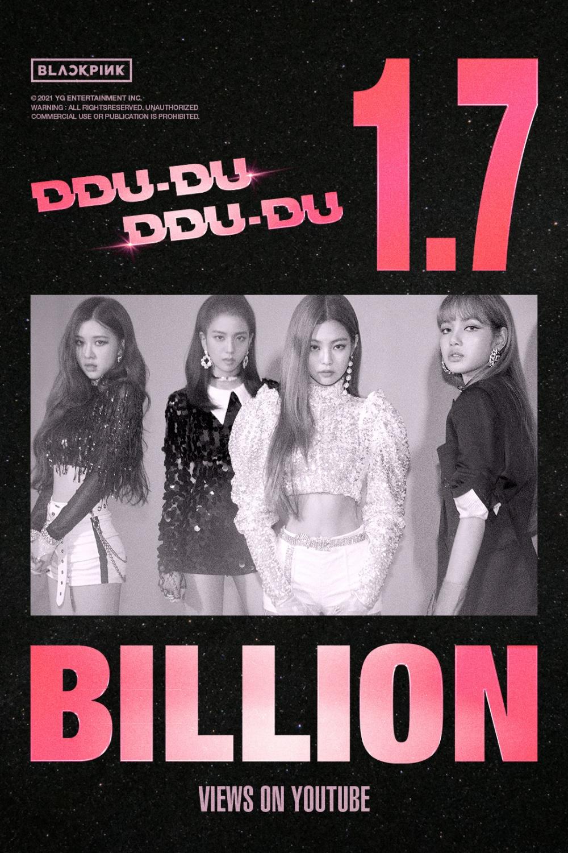 BLACKPINK Ddu-Du-Ddu-Ddu 1.7 billion