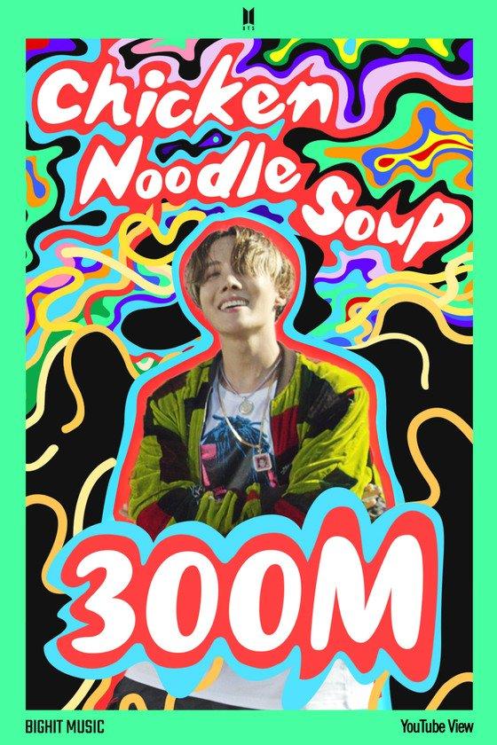 BTS j-hope 'Chicken Noodle Soup' music video surpasses 300 million views