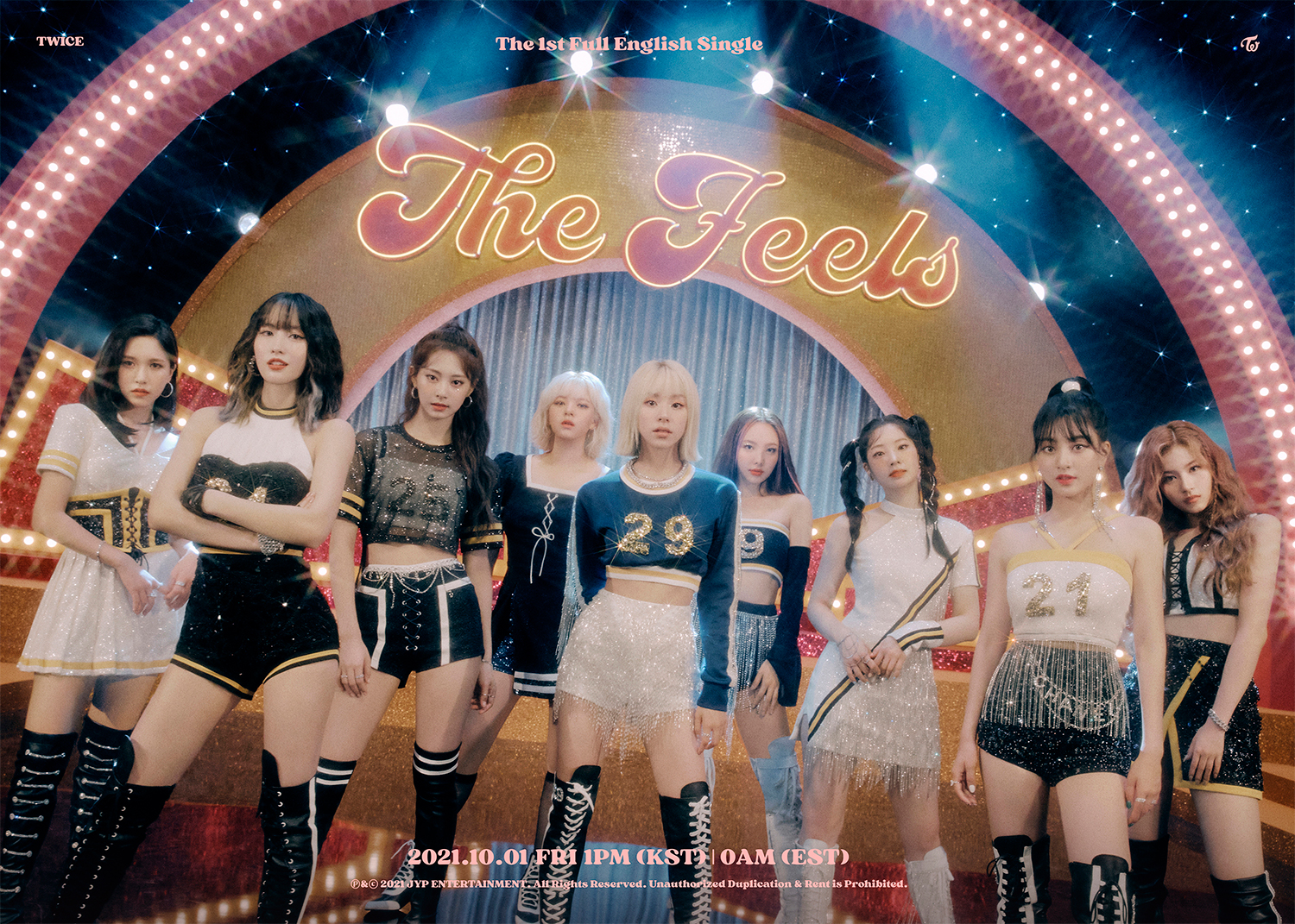 """TWICE releases first English single 'The Feels'... """"Excited heart"""""""