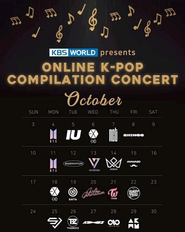 KBS Presents Online K-pop Compilation Concert – Here's the Full Lineup & Schedule