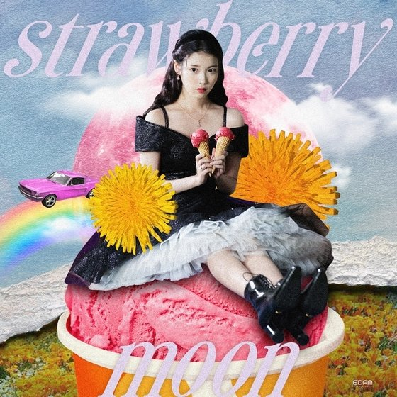 IU confirms comeback with new song 'strawberry moon'... kitsch concept teaser