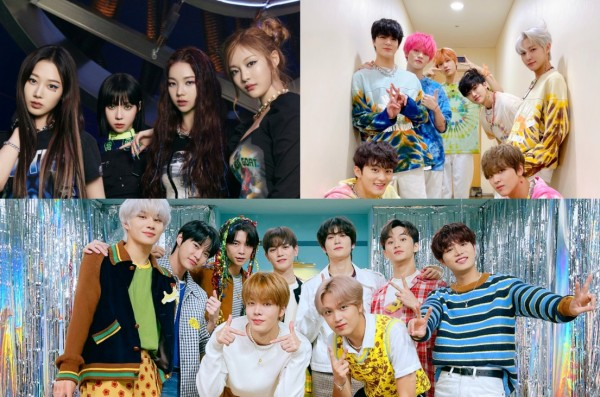 NCT Dream, NCT 127, and aespa on U+ Idol Live
