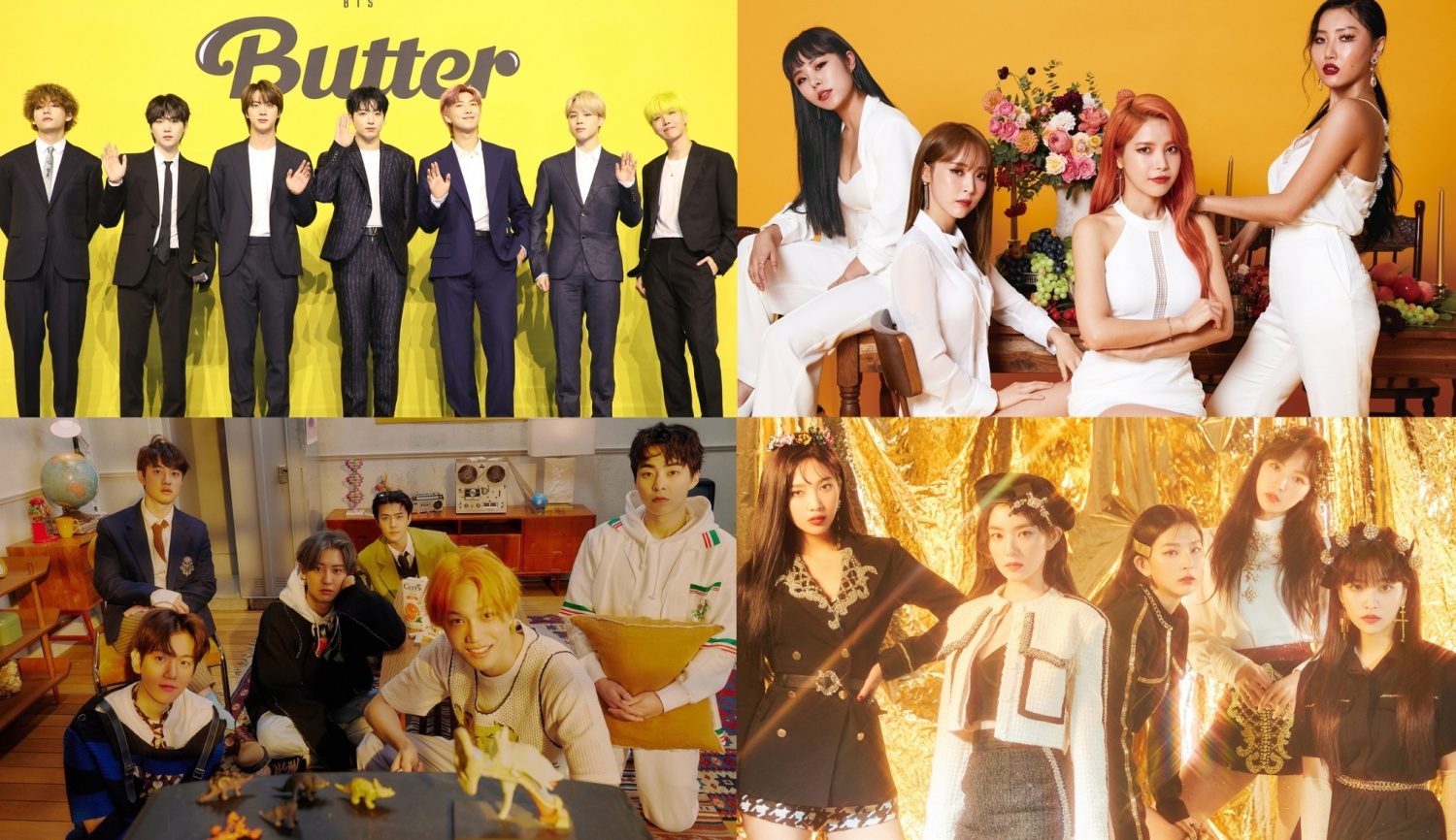 EXO, MAMAMOO, Red Velvet & More: Top 10 K-pop Groups with Most Unique Listeners in MelOn History