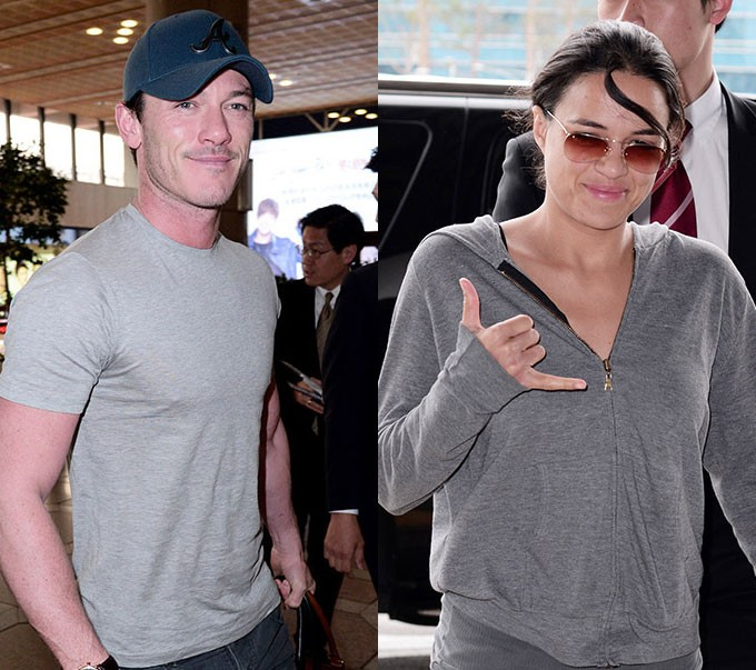 Luke Evans And Michelle Rodriguez Visit Korea For The Fast And The Furious Movie Promotions Photos Kpopstarz