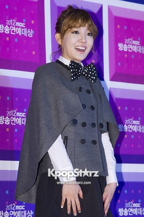 Yoon Ha at the MBC Entertainment Award Ceremony on ...